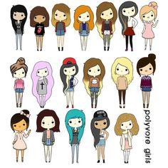 арты девушек для срисовки