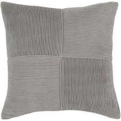 Conrad Grey Woven Cotton Down Filled Pillow