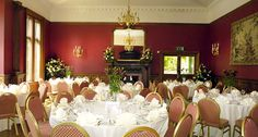 One of the five function rooms inside Holne Park House Devon wedding venue