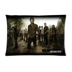 "The Walking Dead AMC TWD Rick Grimes Daryl Dixon 20"" x 30 pillow case"