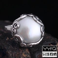 Nepal Bali Sterling Silver Jewelry Hand-inlaid Pearl Mother Shell Carving