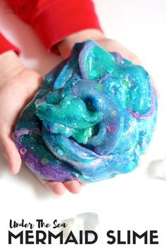Learn how to make mermaid slime for an under the sea theme or ocean theme activity