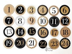Geschenkanhänger Zahlen Adventskalender. Paperflair.de.✔ Versandkostenfrei ab 50€ Diy Advent Calendar, Countdown Calendar, Advent Calendars, Christmas Books, Christmas Countdown, Planner Stickers, Book Bin Labels, Calendar Numbers, Natal Diy