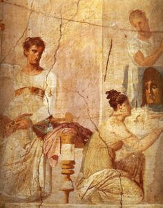 The Actor King, from the Palaestra, Herculaneum (fresco), Roman, (1st century AD) / Museo Archeologico Nazionale, Naples, Italy