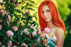 women, Model, Redhead, Flowers HD Wallpapers / Desktop and Mobile Images & Photos Out Of Eden, Reddish Hair, Redheads Freckles, Bright Red Hair, Makeup For Green Eyes, Makeup Eyes, Love Rose, Beautiful Redhead, Ginger Hair