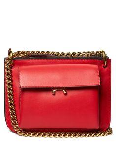 MARNI Trunk Bi-Colour Leather Cross-Body Bag. #marni #bags #leather #