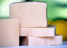 Goat's Milk Lemongrass  $5.00  5 Ounces (Soaps are all hand cut so weights do vary)  Made with 100% Certified Organic Oils!     T...