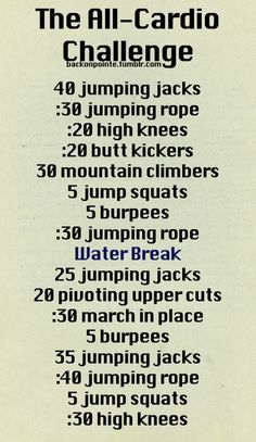 Workout Exercises : Another workout to try. =)