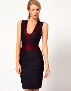 Enlarge French Connection Contrast Body-Conscious Dress