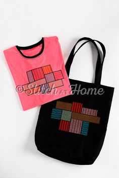 Mondriaan tas | naaien en borduren editie 73-2021 Reusable Tote Bags, Quilts, Outfit, Fashion, Craft Work, Outfits, Moda, Fashion Styles, Quilt Sets