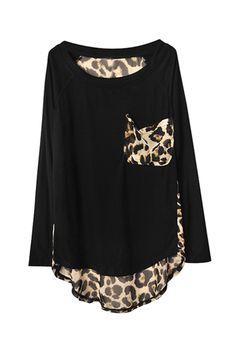 Leopard Print Detail Top...lovee!