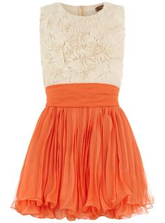 Orange frill top dress