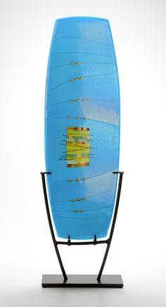Turquoise Window Arc: Lynn Latimer: Art Glass Sculpture - Artful Home Fused Glass Art, Glass Wall Art, Stained Glass Art, Mosaic Glass, Window Glass, Glass Partition, Glass Installation, Steel Sculpture, Sculpture Art