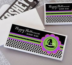 Spooky Halloween Personalized Candy Wrapper Covers