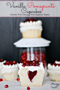 Petite Allergy Treats: Gluten Free Pomegrante Cupcakes (Free of the top 8 Food Allergens)