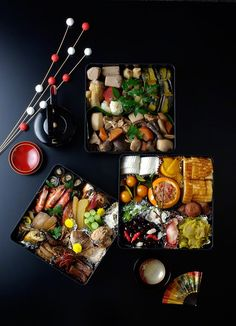 (3) Japanese Culture Osechi: The Elegance of the New Year Table (Photos) |おせち料理 | Japanese food | Pinterest