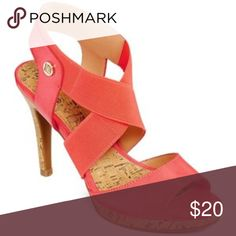 Liz Claiborne dapper heeled sandals Liz Claiborne dapper heeled sandals in salmon Liz Claiborne Shoes Heels