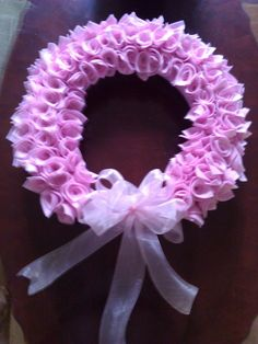 Can be customized for either a new baby girl or breast cancer awareness  $60  Completelycustomcreations@yahoo.com