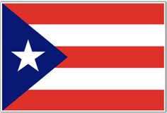The flag of Puerto Rico was adopted on July in the year of 1952. The flag of Puerto Rico is comprised of five alternating white and red stripes, and a blue triangle on the hoist side, with a white star in the center of the triangle.