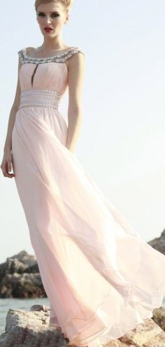 Bohemian/Classy/Egyptian Pink/Silver Gown