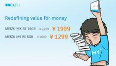 Grab a bargain Meizu Android smartphone! Meizu announces huge savings on the Meizu M9 RE and dual core 1.4 GHZ Meizu MX RE phones!