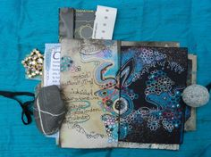 Elizabeth Bunsen journal - a bundle of bits and scraps, of thoughts, notes, lists and memorabilia. #mixed_media #journal #doodling
