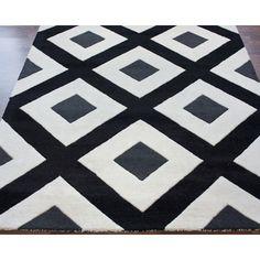 nuLOOM Bella Diamonds Black & White Area Rug & Reviews   Wayfair