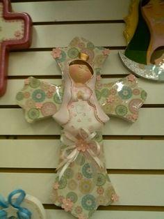 Wood cross virgen de guadalupe Cruz de madera con virgen de guadalupe!!!