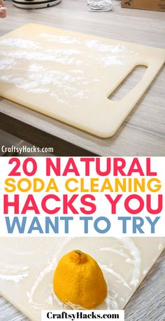 Try these simple natural cleaning tips to get the odor out of your cutting boards and clean kitchen easier. These cleaning hacks are so simple yet powerful at cleaning home! hacks videos 20 Natural Soda Cleaning Hacks You Want to Try Keurig Cleaning, Baking Soda Cleaning, Diy Home Cleaning, House Cleaning Tips, Cleaning Hacks, Cleaning Checklist, Kitchen Cleaning, Organizing Tips, Organization