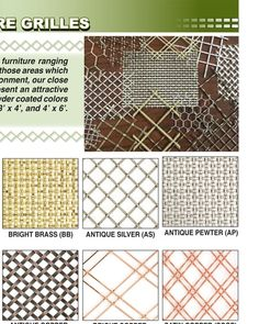 Attrayant Metal Mesh For Cabinet Doors And Dog Door; Outwater M12 Page 616