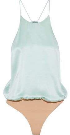 dfab765274 Alix Open-Back Silk-Satin Bodysuit  Open stretchy Silk Shape Wear