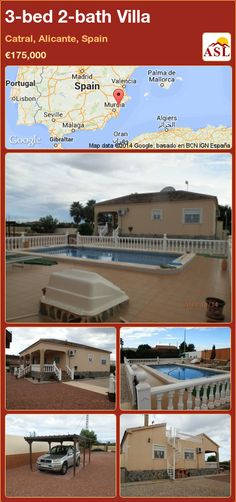 3-bed 2-bath Villa in Catral, Alicante, Spain ►€175,000 #PropertyForSaleInSpain