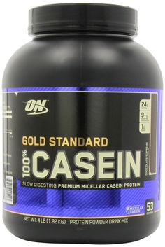 Optimum Nutrition Gold Standard 100% Casein Protein Powder  - The industry's first all-micellar casein product - 24 g of protein per serving - 1.5 g of sugar - Mixes easily  CLICK HERE - http://amzn.to/UiCZcA