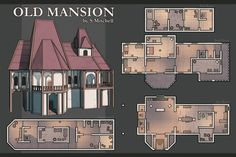 A catalog for user created maps and links to maps by other artists suitable for use in any D&D campaign, adventure, or encounter. Mansion Plans, Pathfinder Maps, Fantasy Map, Fantasy City, Fantasy House, Medieval Fantasy, Fantasy Artwork, Building Map, Scale Map
