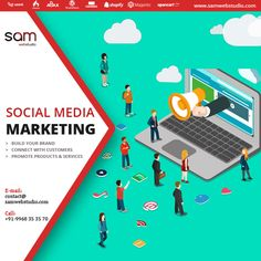 will increase the visibility of your business and hence grow the influencers. SAM Web Studio is one of the best service provider in Delhi, India. To avail, a stupendous services visit us Social Media Marketing, Digital Marketing, Web Studio, Media Campaign, Professional Website, Build Your Brand, Delhi India, Seo Services, Web Development