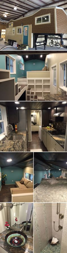 The Westbury tiny house from Cornerstne Tiny Homes Tiny House Movement, Big Houses Inside, Little Houses, Tiny Homes, Small Space Living, Small Living, Tiny House Living, Tiny House On Wheels, Tiny House Plans