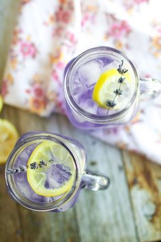 Refreshing and thirst quenching. Add some lavender to your homemade lemonade! Better yet... make it sparkling lemonade!