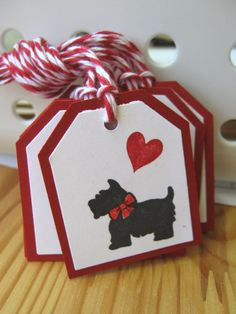 Black Scottie Dog Valentine Gift Tags by CharonelDesigns on Etsy, $5.00