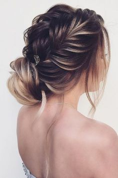 Wedding Hairstyles Ideas For Brides With Thin Hair ★ wedding hairstyles for thin hair braided with bun nadigerber