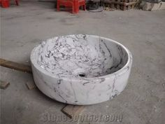 Arabescato Corchia Marble Sinks & Basins, Italy White Marble Round Basins, Arabescato White Marble Bathroom Sinks, White Marble Vessel Sinks