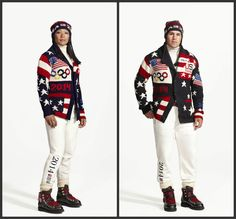 Ralph Lauren has debuted the uniforms Team USA will wear during the opening ceremony for the 2014 Winter Olympics in Sochi, Russia, in Febru. Olympic Athletes, Olympic Team, Olympic Games, Julie Chu, American Flag Etiquette, Outfits 2014, Olympics Opening Ceremony, American Athletes, Usa Hockey