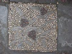 pebble mosaic, floral