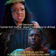 "#OnceUponATime 4x16 ""Poor Unfortunate Soul"" - Young Ursula and King Poseidon"