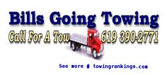 Bill's Going Towing Inc, is a family owned business started in October 2006 and Incorporated September 2007. Their tow vehicles clean and reliable.For more details visit: http://www.towingrankings.com/bills-going-towing.html