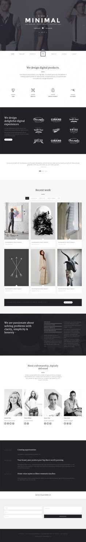 T-ONE Clean & Minimal WordPress Theme on Behance