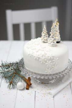 Fondant-Torte Winter Wonderland