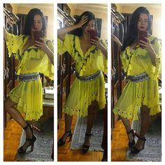 Diamond For Eden Annalisa Yellow Dress