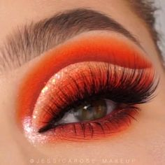 Tips To Resolve Your Skincare Issues Once And For All - Luxe Blade Beauty Orange Eye Makeup, Bright Eye Makeup, Makeup Eye Looks, Eye Makeup Steps, Eye Makeup Art, Colorful Eye Makeup, Beautiful Eye Makeup, Dramatic Makeup, Skin Makeup