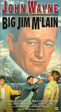 John Wayne and Nancy Olson in Big Jim McLain Classic Disney Movies, Classic Movie Posters, Movie Poster Art, Classic Movies, Film Posters, John Wayne Quotes, John Wayne Movies, Old Movies, Vintage Movies