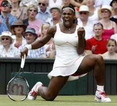 Serena Williams (Wimbledon 2010) - after hitting a down the line winner vs. Vera Zvonereva